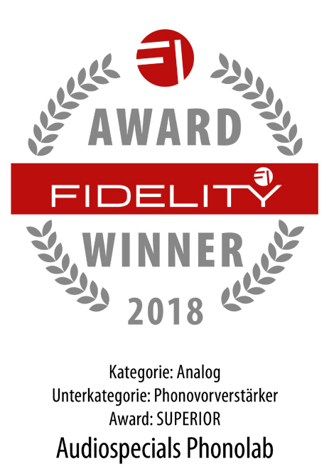 audiospecials Fidelity Award Winner 2018